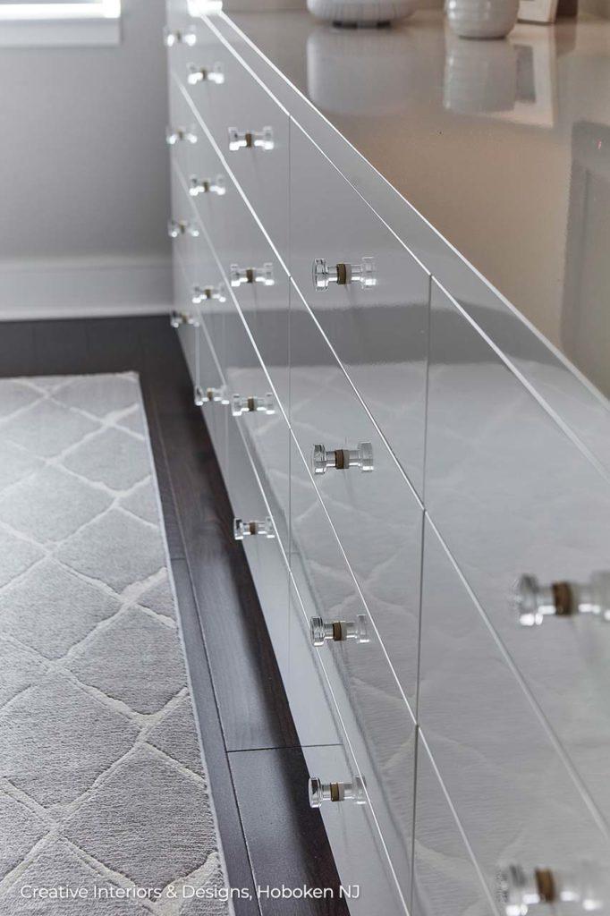 Ultra modern high gloss lacquer dresser.