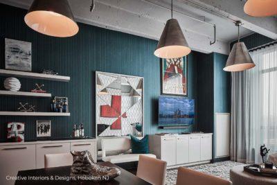 An urban modern style living room design.